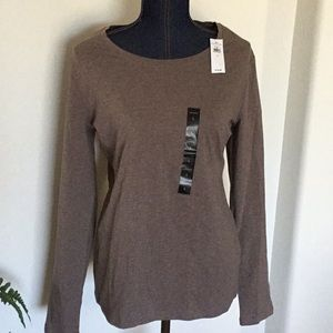 BANANA REPUBLIC LONG SLEEVE TEE SHIRT TOP HEATHER